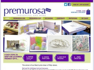 Premurosa.com homepage (8 Apr 2013)