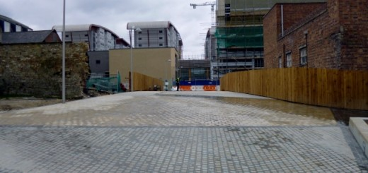 Bewick Way, connecting Trinity Square with Jackson Street in Gateshead (21 Apr 2013). Photograph by Graham Soult