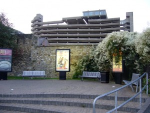 A similar view from 2009, with the famous Get Carter car park (17 Sep 2009). Photograph by Graham Soult