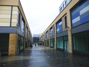Ellison Walk, with Greggs signage visible (15 May 2013). Photograph by Graham Soult