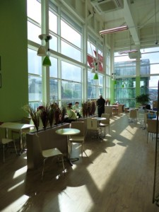 Instore cafe at Tesco Extra, Gateshead (17 May 2013). Photograph by Graham Soult