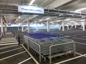 Car park at Tesco Extra, Gateshead (17 May 2013). Photograph by Graham Soult