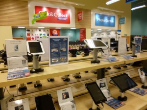 Click & Collect area at Tesco Extra, Gateshead (17 May 2013). Photograph by Graham Soult
