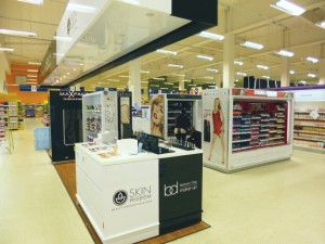 Cosmetics at Tesco Extra, Gateshead (17 May 2013). Photograph by Graham Soult