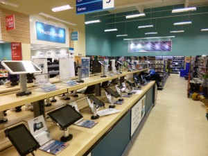 Electricals at Tesco Extra, Gateshead (17 May 2013). Photograph by Graham Soult
