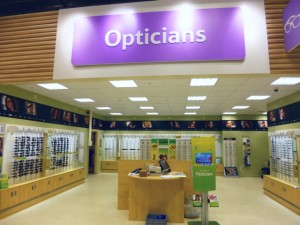 Optician's at Tesco Extra, Gateshead (17 May 2013). Photograph by Graham Soult