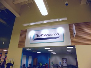The Phone Shop at Tesco Extra, Gateshead (17 May 2013). Photograph by Graham Soult