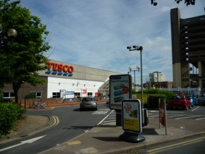 The old Gateshead Tesco, in 2010 (18 Jun 2010). Photograph by Graham Soult