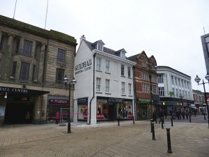 Original former Woolworths (now River Island), Stafford (3 Feb 2013). Photograph by Graham Soult