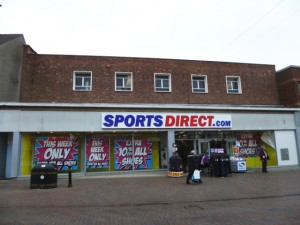 Former Woolworths (now Sports Direct), Stafford (3 Feb 2013). Photograph by Graham Soult
