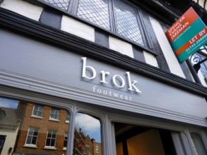 Recent Shrewsbury indie arrival Brok Footwear (10 Jun 2013). Photograph by Graham Soult