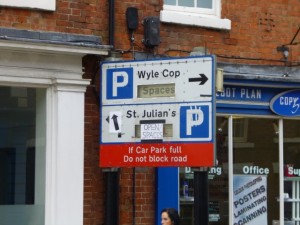 Visitors seeking out Shrewsbury's current car parks need their wits about them (10 Jun 2013). Photograph by Graham Soult