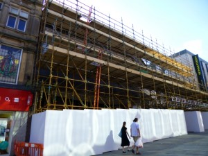 Remodelling work underway at Eldon Square Northumberland Street entrance (6 Jul 2013). Photograph by Graham Soult