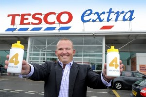 Xercise4Less MD, Jon Wright, outside Tesco Stockton. Photograph courtesy of Tesco