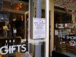 Shrewsbury's Pukka Wines promoting a wine tasting event (10 Jun 2013). Photograph by Graham Soult