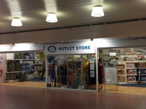QVC Outlet Store in the Darwin shopping centre, Shrewsbury (10 Jun 2013). Photograph by Graham Soult