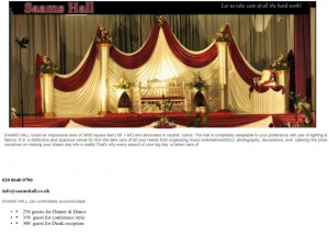 Saam's Function Hall homepage (8 Jul 2013)