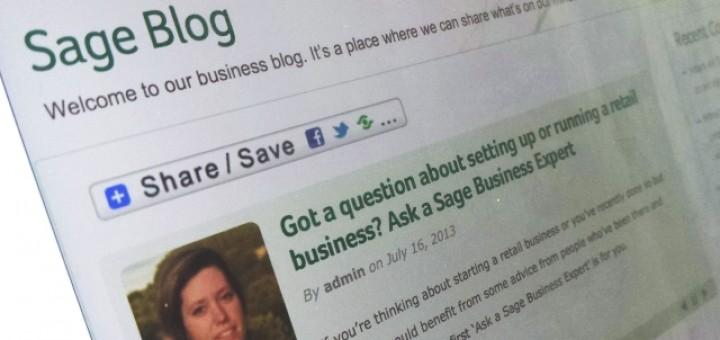 Sage Blog (17 Jul 2013). Photograph by Graham Soult