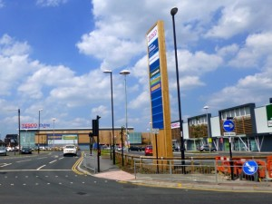 Tesco Extra within the redeveloped Sunderland Retail Park (6 Jul 2013). Photograph by Graham Soult