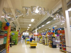 Opening day at Tesco Extra Gateshead (23 May 2013). Photograph by Graham Soult