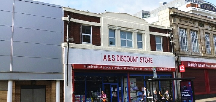 Original Woolworths (now A&S Discount Store), Byker (28 Aug 2013). Photograph by Graham Soult