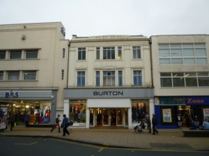 Burton store, Darlington (16 Feb 2012). Photograph by Graham Soult