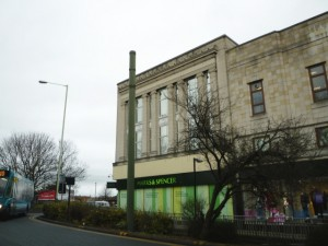 Original Burton store (now M&S) in Darlington (16 Feb 2012). Photograph by Graham Soult