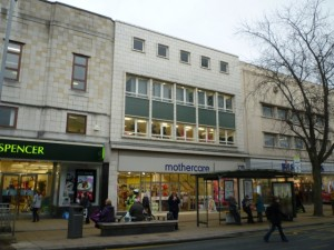 Mothercare at 66 Northgate, Darlington (16 Feb 2012). Photograph by Graham Soult