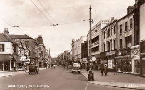 Valentine's postcard of Northgate, Darlington, in about 1945