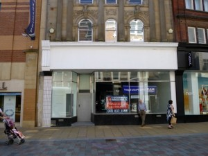 Vacant section of Darlington's ex-Woolworths at 18 Northgate (3 May 2012). Photograph by Graham Soult