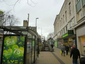 ...and the same view of Northgate today (16 Feb 2012). Photograph by Graham Soult