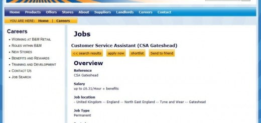B&M jobs site (18 Oct 2013)