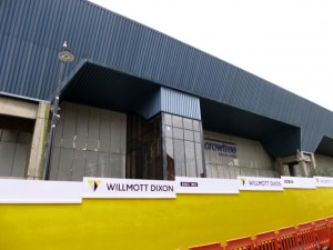 Demolition underway at Sunderland's Crowtree Leisure Centre (18 Oct 2013). Photograph by Graham Soult