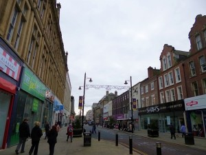 Fawcett Street, Sunderland (15 Nov 2012). Photograph by Graham Soult