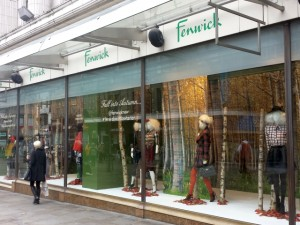 Autumn window at Fenwick, Newcastle (22 Oct 2013). Photograph by Graham Soult