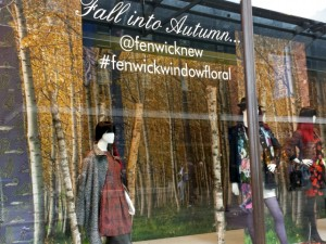 'Floral' autumn window at Fenwick, Newcastle (22 Oct 2013). Photograph by Graham Soult