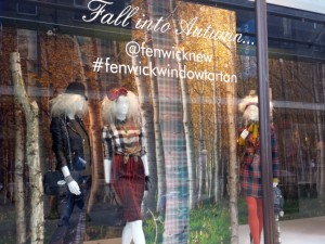 'Tartan' autumn window at Fenwick, Newcastle (22 Oct 2013). Photograph by Graham Soult