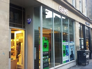Game store in Grainger Street, Newcastle (24 Oct 2013). Photograph by Graham Soult
