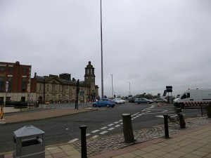Site of Magistrates Square, Sunderland (18 Oct 2013). Photograph by Graham Soult
