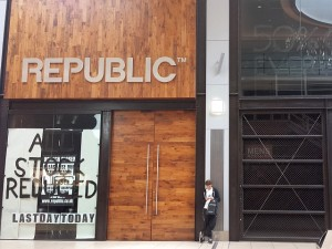 Closed-down Republic store in Eldon Square (25 Jun 2013). Photograph by Graham Soult