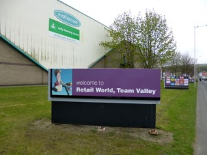 Team Valley Retail World, Gateshead (2 May 2013). Photograph by Graham Soult