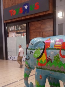 Toys R Us preparing for opening at Eldon Square, Newcastle (18 Oct 2013). Photograph by Graham Soult