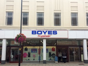 Boyes (ex-M&S) in Grantham (15 Aug 2013). Photograph by Graham Soult