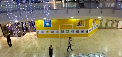 Hoardings outside Metrocentre Lego Store site (6 Nov 2013). Photograph by Graham Soult