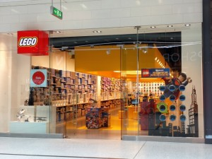 Lego Store frontage in Manchester's Arndale Centre (1 Jul 2013). Photograph by Graham Soult