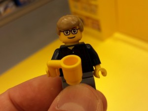 Soult minifigure at the Trinity Leeds Lego Store (15 Aug 2013). Photograph by Graham Soult