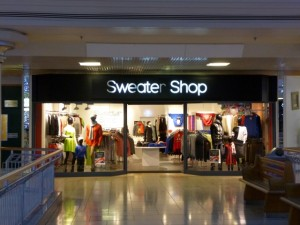 Recently opened Sweater Shop at Intu Metrocentre (6 Nov 2013). Photograph by Graham Soult