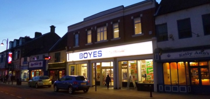 Former Woolworths (now Boyes), Bishop Auckland (19 Nov 2013). Photograph by Graham Soult