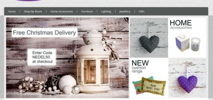 Screenshot of Home Decor Company website (2 Dec 2013)