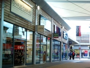 Charles Clinkard outlet store at Dalton Park in County Durham (16 Oct 2012). Photograph by Graham Soult
